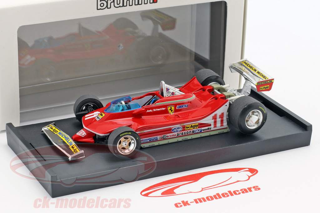 J. Scheckter Ferrari 312T4 #11 vencedor italiano GP campeão do mundo F1 1979 1:43 Brumm