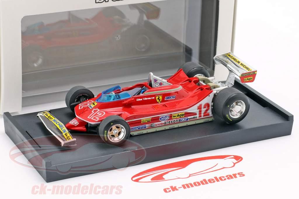 Gilles Villeneuve Ferrari 312T4 #12 2º francês GP fórmula 1 1979 1:43 Brumm