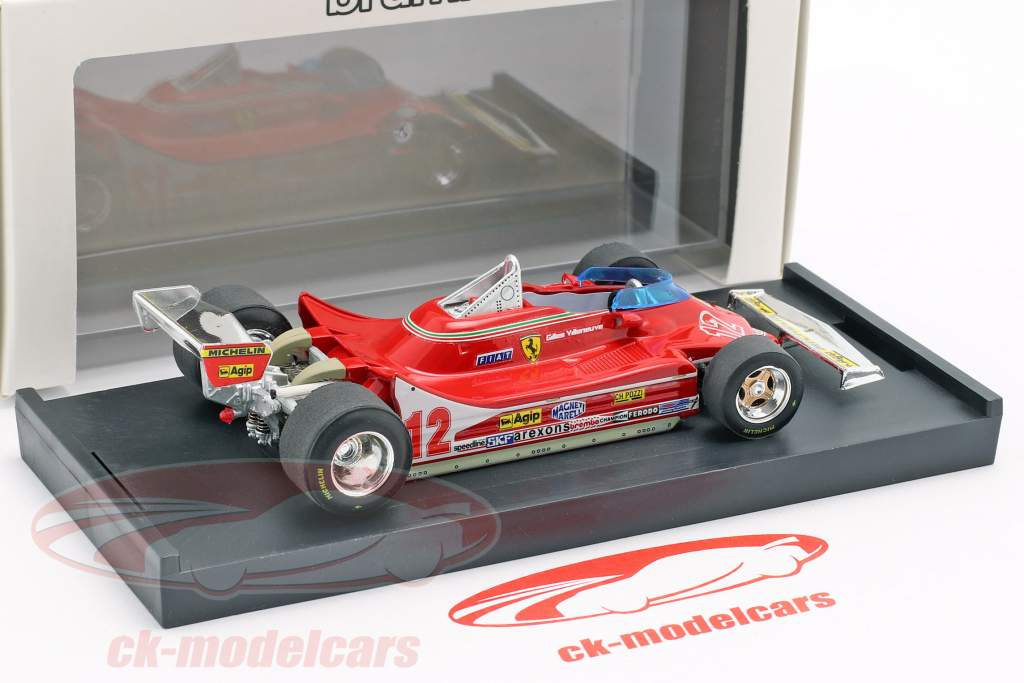 Gilles Villeneuve Ferrari 312T4 #12 2e Frans GP formule 1 1979 1:43 Brumm