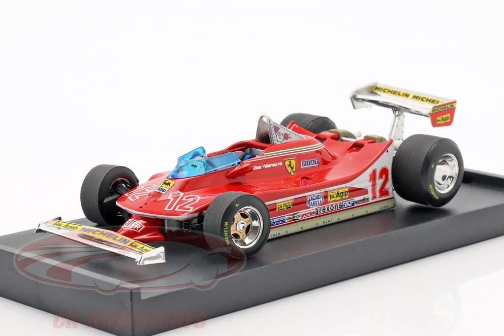 Gilles Villeneuve Ferrari 312T4 #12 2nd fransk GP formel 1 1979 1:43 Brumm