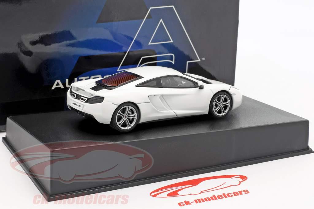 McLaren MP4-12C Ano 2011 branco metálico 1:43 AUTOart