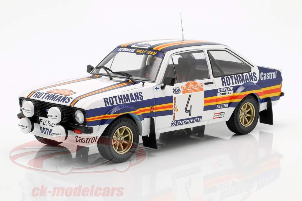 Ford Escort MK II RS1800 #4 2nd Rallye SanRemo 1980 Vatanen, Richards 1:18 Ixo