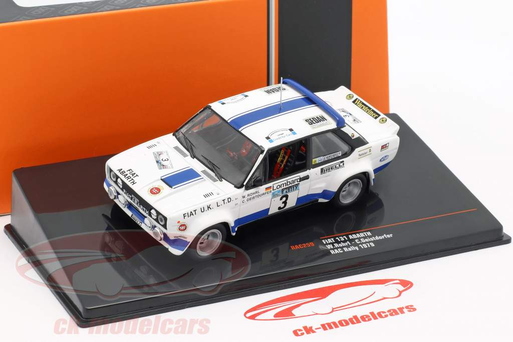 Fiat 131 Abarth #3 8th Lombard RAC Rallye 1979 Röhrl, Geistdörfer 1:43 Ixo