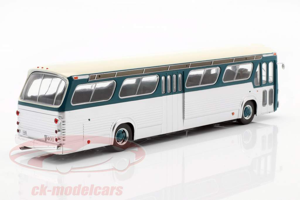 GMC Bus New Look Fishbowl anno di costruzione 1969 turchese / argento 1:43 Ixo