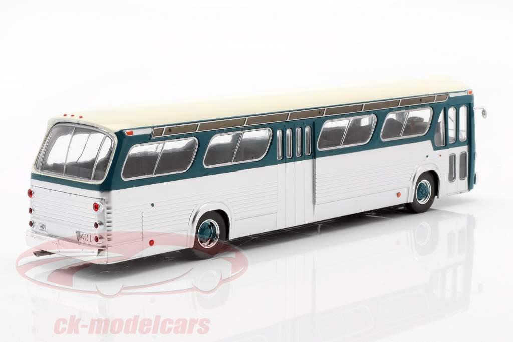 GMC Bus New Look Fishbowl Baujahr 1969 türkis / silber 1:43 Ixo