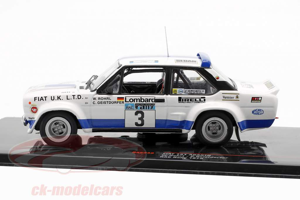 Fiat 131 Abarth #3 8ste Lombard RAC Rallye 1979 Röhrl, Geistdörfer 1:43 Ixo