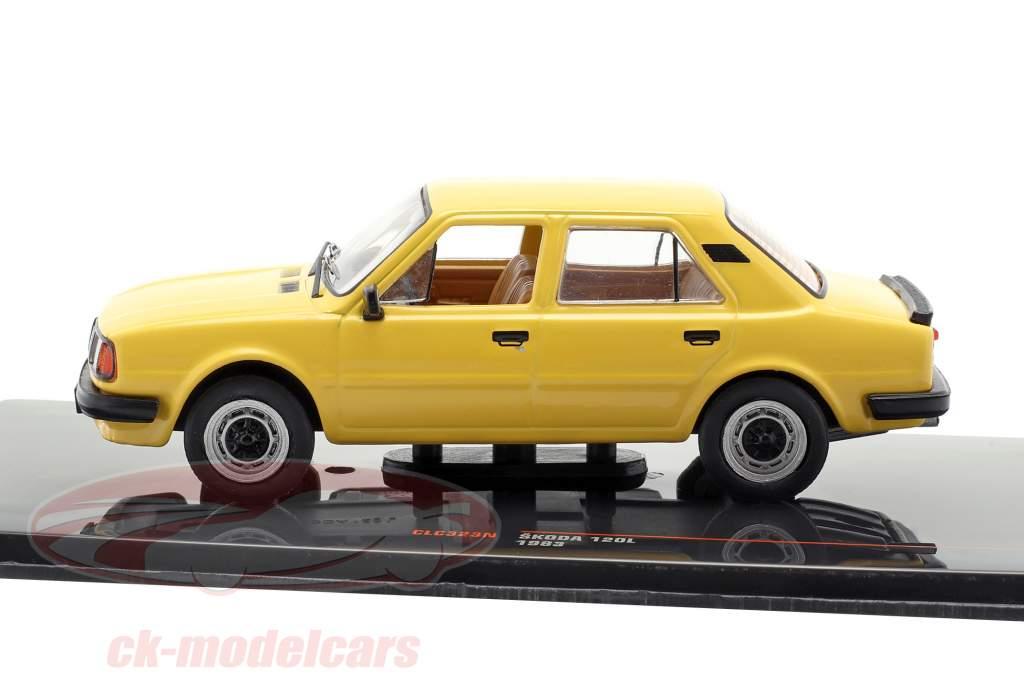 Skoda 120L année de construction 1983 sombre jaune 1:43 Ixo