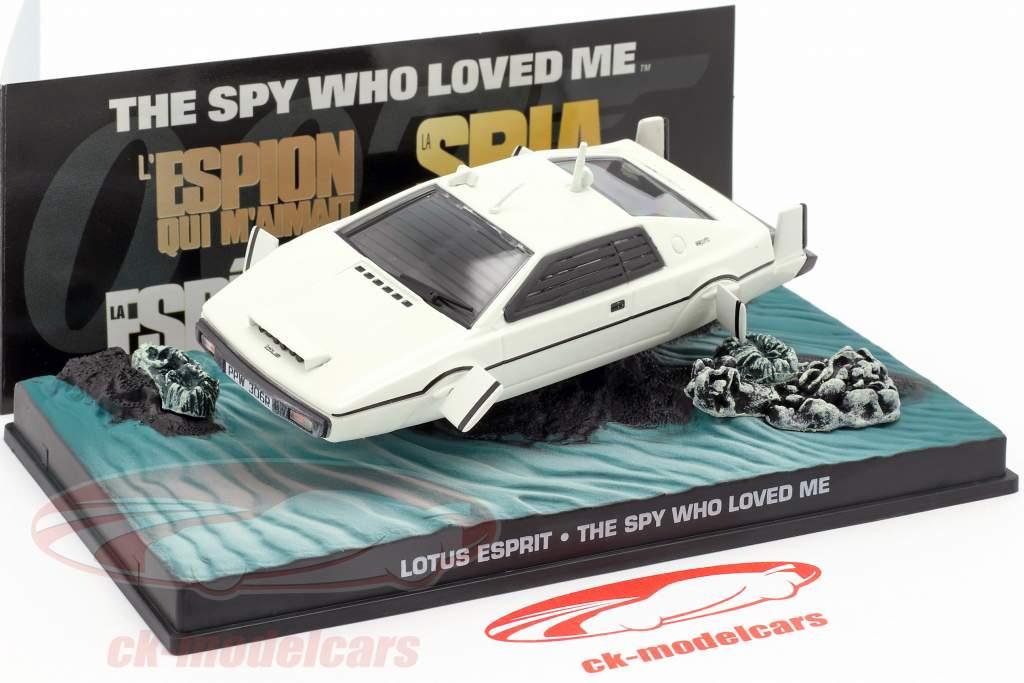 Lotus Esprit James Bond Movie Car bianco La spia che mi amava 1:43 Ixo