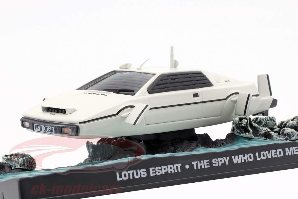 Lotus Esprit James Bond Car Film blanc The Spy Who Loved Me 1:43 Ixo