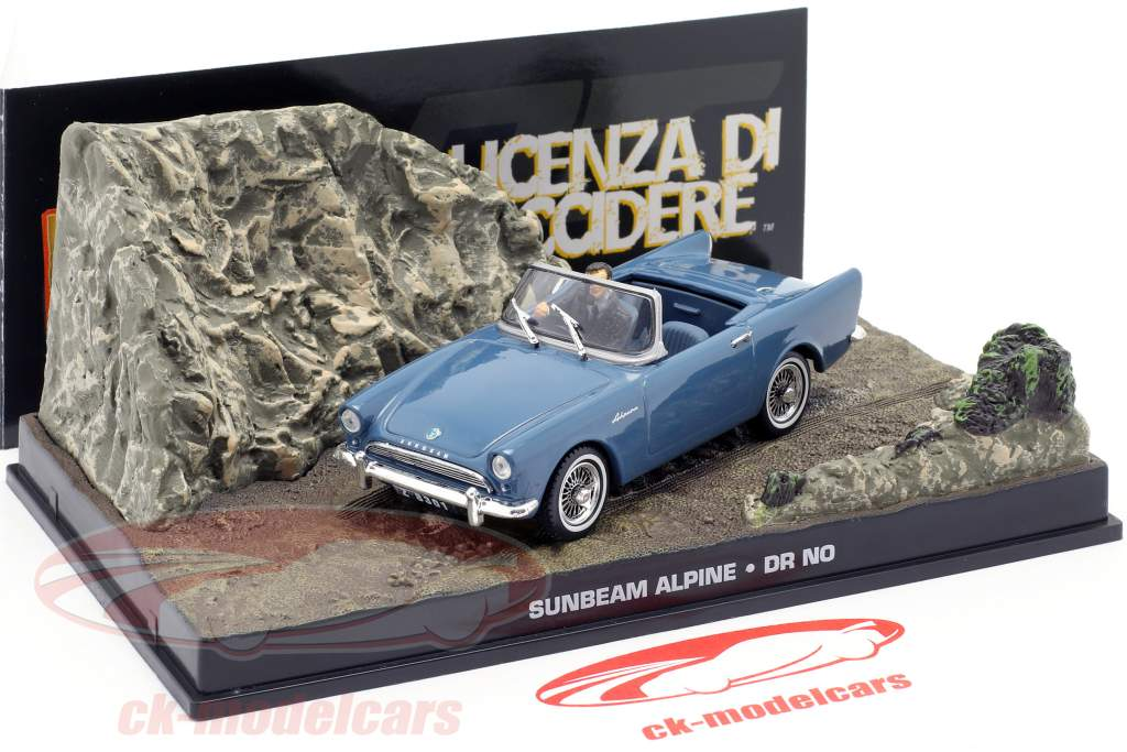 James Bond 007 Dr No 1:43 Diecast Model Car DY017 Sunbeam Alpine
