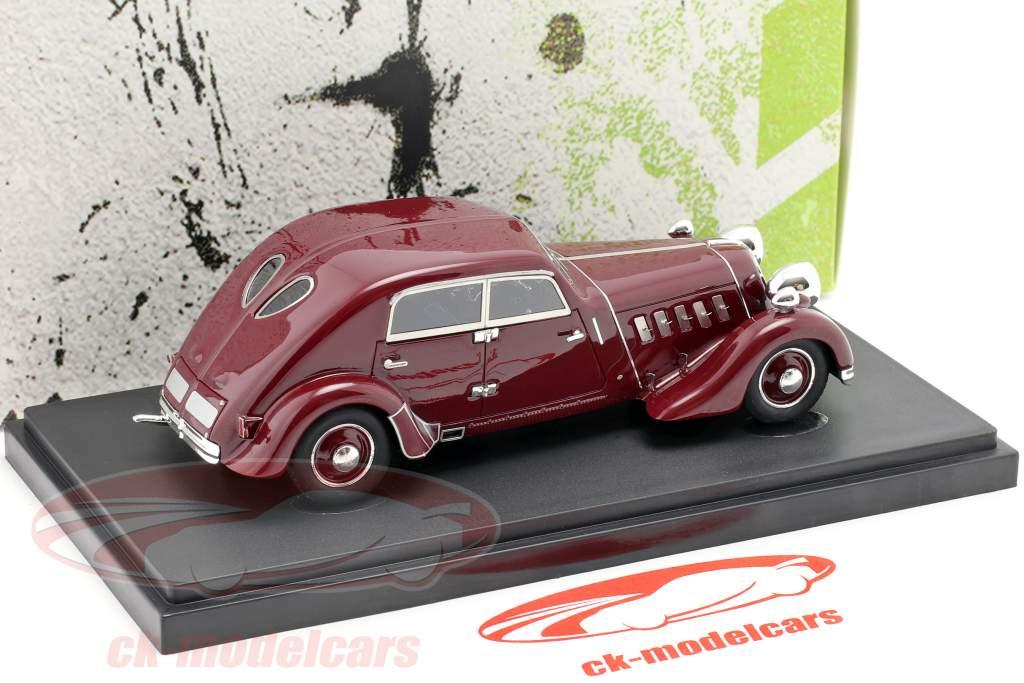 Röhr 8 Type F Streamline year 1932 dark red 1:43 AutoCult