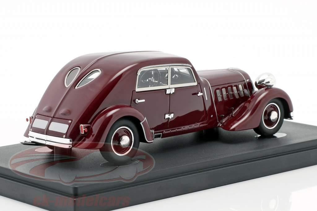 Röhr 8 tipo F Streamline ano de construção 1932 escuro vermelho 1:43 AutoCult