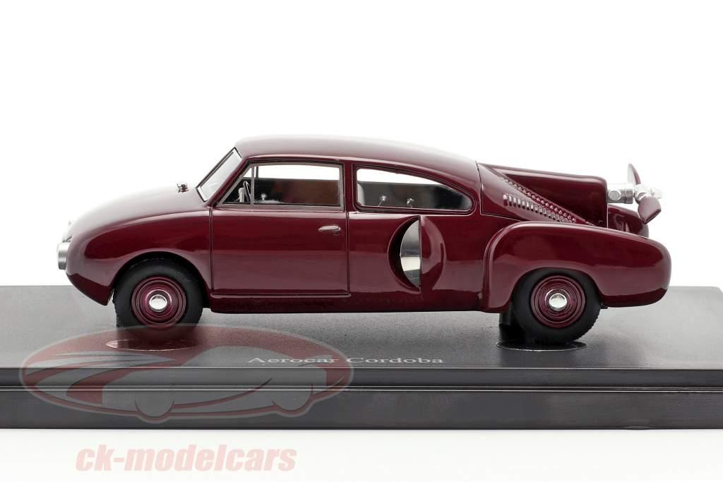 Aerocar Cordoba year 1953 dark red 1:43 AutoCult
