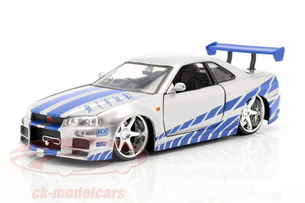 Brian's Nissan Skyline GT-R (R34) Film 2 Fast 2 Furious 2003 1:24 Jada Toys