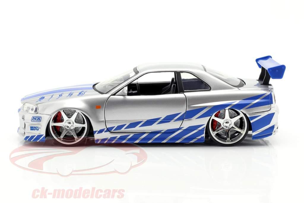 Brian's Nissan Skyline GT-R (R34) Movie 2 Fast 2 Furious 2003 1:24 Jada Toys