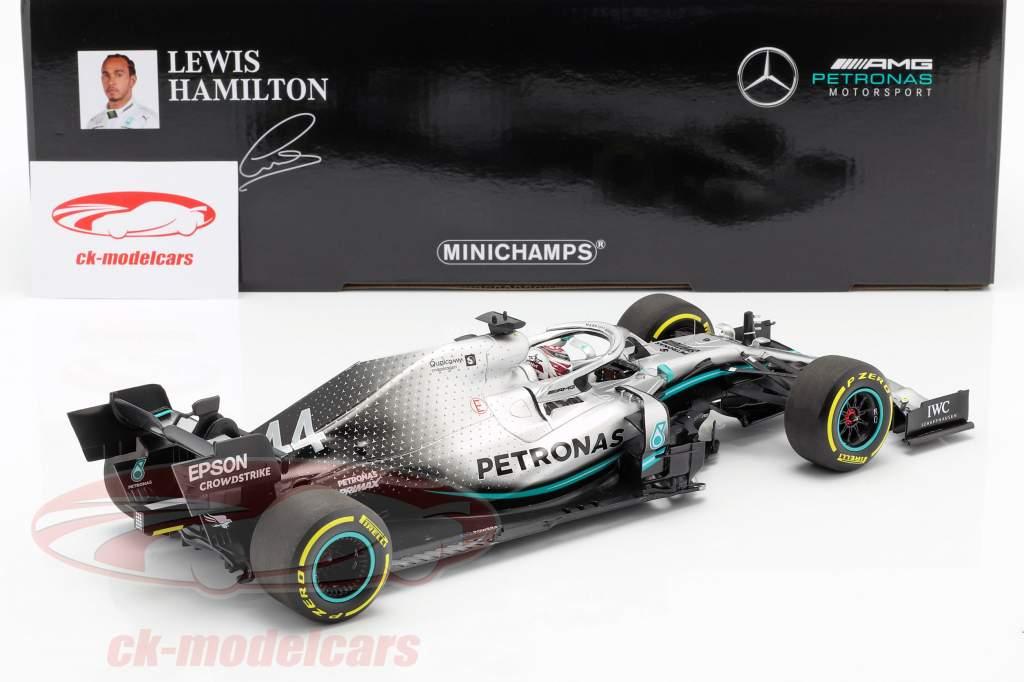 L. Hamilton Mercedes-AMG F1 W10 EQ #44 formula 1 campione del mondo 2019 1:18 Minichamps