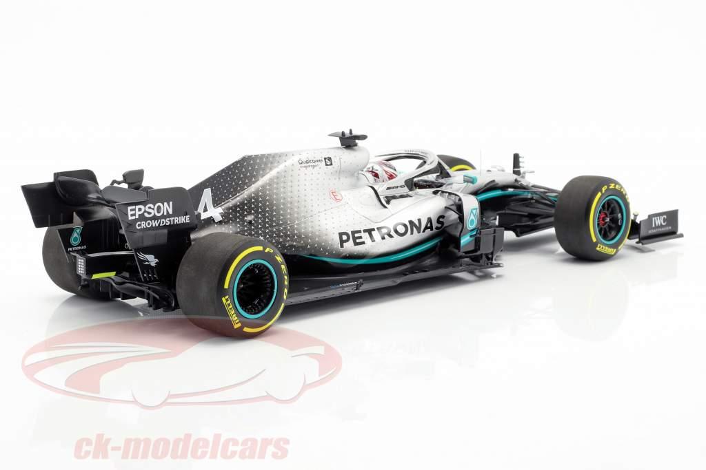L. Hamilton Mercedes-AMG F1 W10 EQ #44 formule 1 wereldkampioen 2019 1:18 Minichamps
