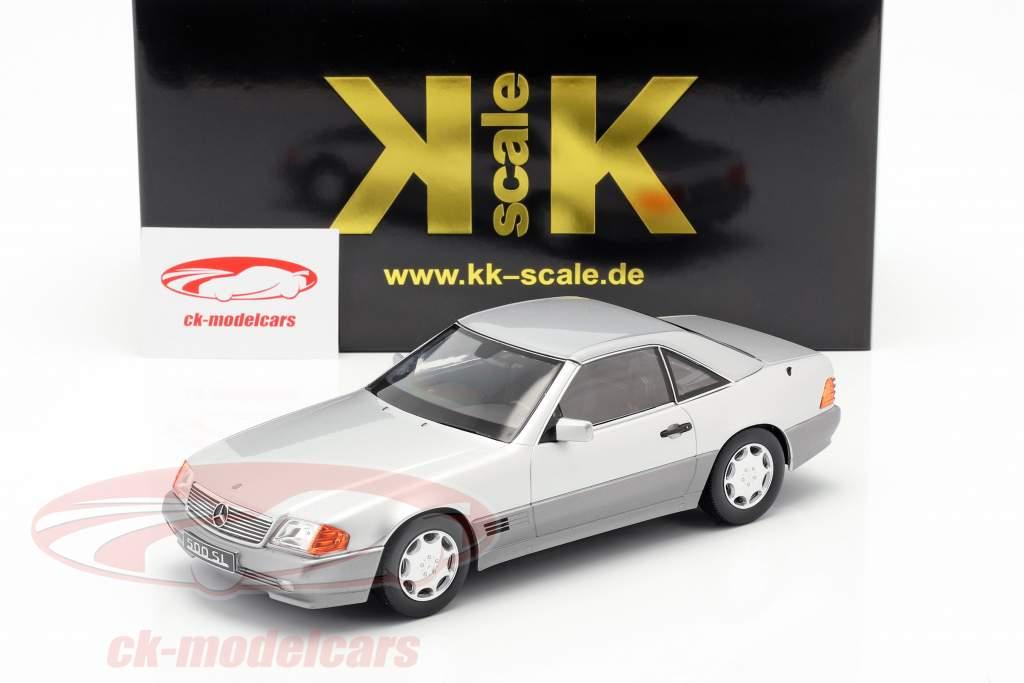 Mercedes-Benz 500 SL (R129) ano de construção 1993 prata 1:18 KK-Scale
