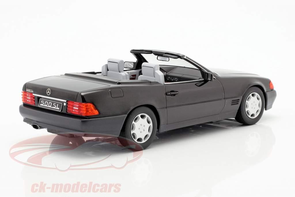 Mercedes-Benz 500 SL (R129) year 1993 black metallic 1:18 KK-Scale
