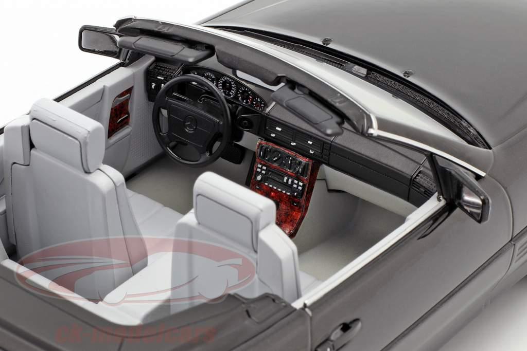 Mercedes-Benz 500 SL (R129) ano de construção 1993 preto metálico 1:18 KK-Scale