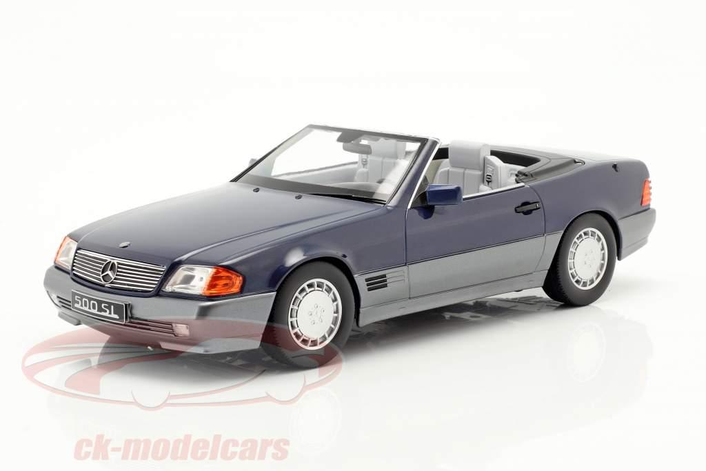 Mercedes-Benz 500 SL (R129) anno di costruzione 1993 blu metallico 1:18 KK-Scale