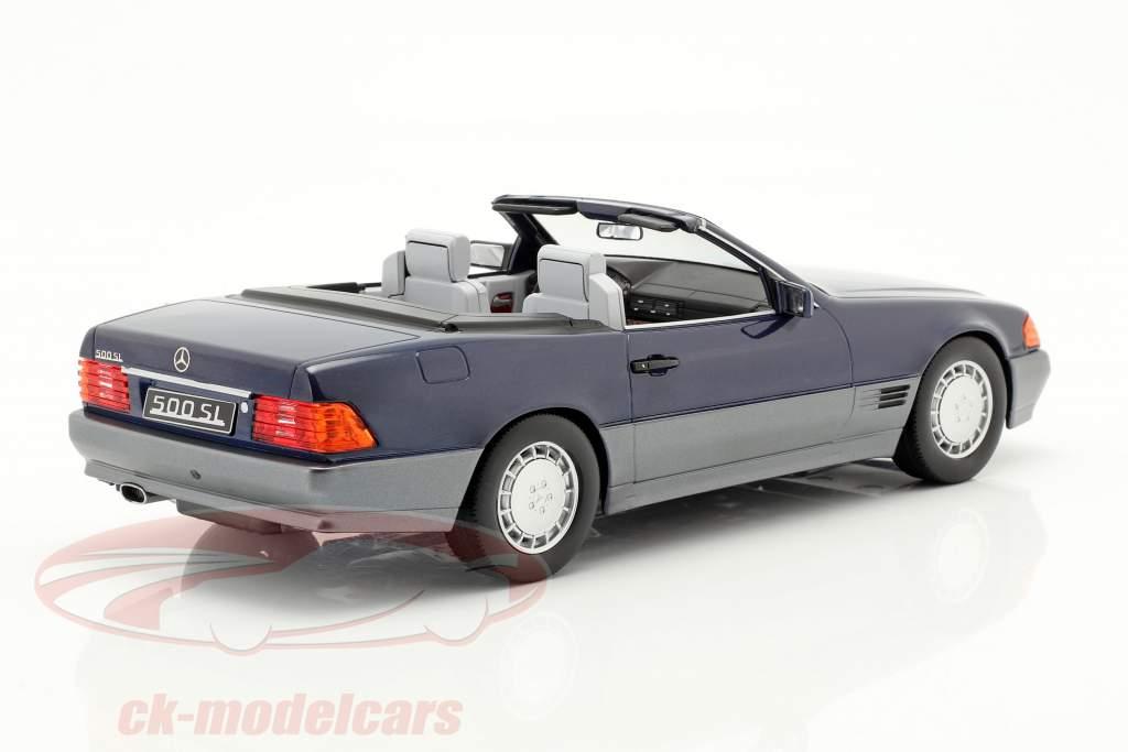 Mercedes-Benz 500 SL (R129) year 1993 blue metallic 1:18 KK-Scale
