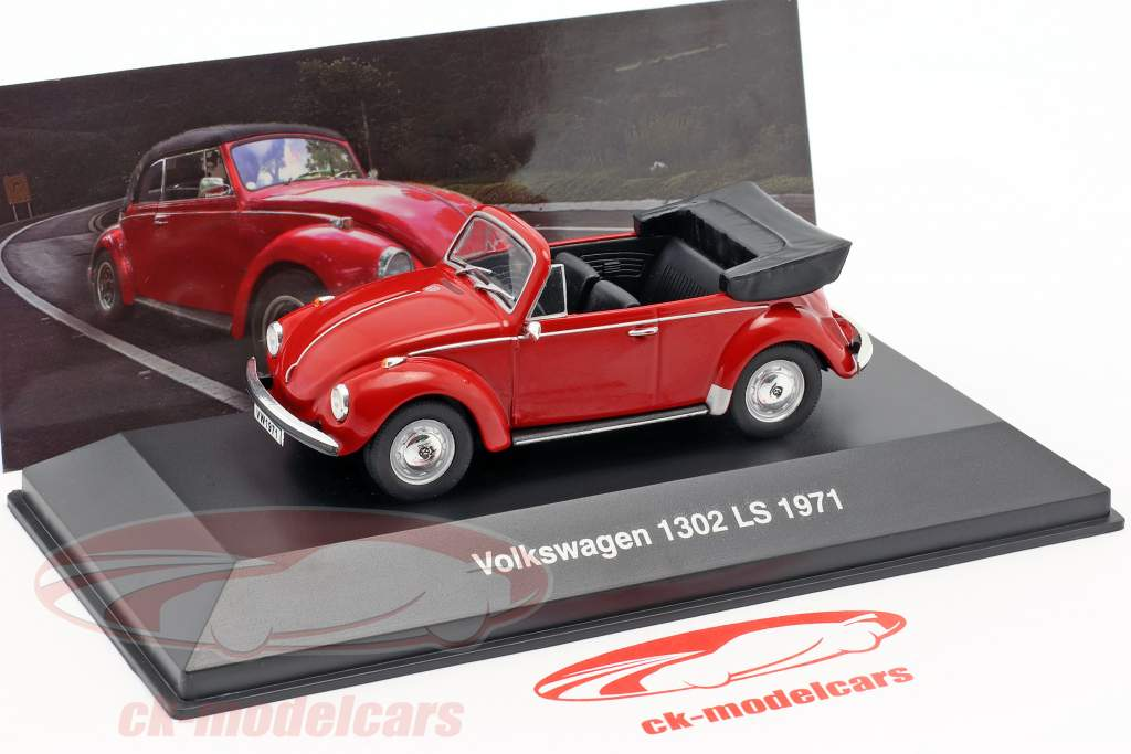 Volkswagen VW Käfer 1302 LS Cabriolet Baujahr 1971 rot 1:43 Altaya