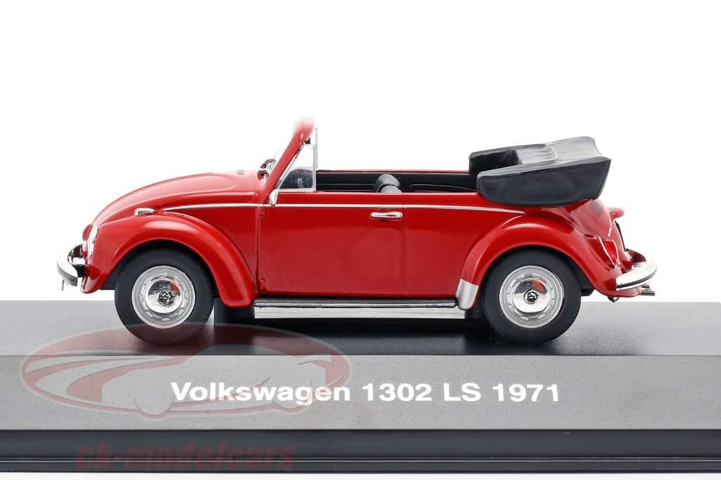 Volkswagen VW scarafaggio 1302 LS cabriolet anno di costruzione 1971 rosso 1:43 Altaya