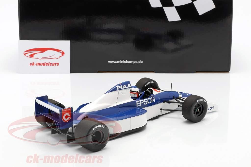 Jean Alesi Tyrrell 018 #4 2º EUA GP fórmula 1 1990 1:18 Minichamps