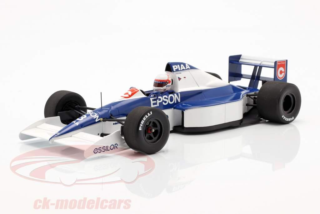 Satoru Nakajima Tyrrell 018 #3 6th USA GP formel 1 1990 1:18 Minichamps