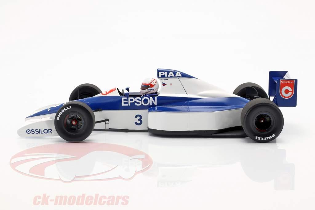 Satoru Nakajima Tyrrell 018 #3 sexto EE.UU. GP fórmula 1 1990 1:18 Minichamps