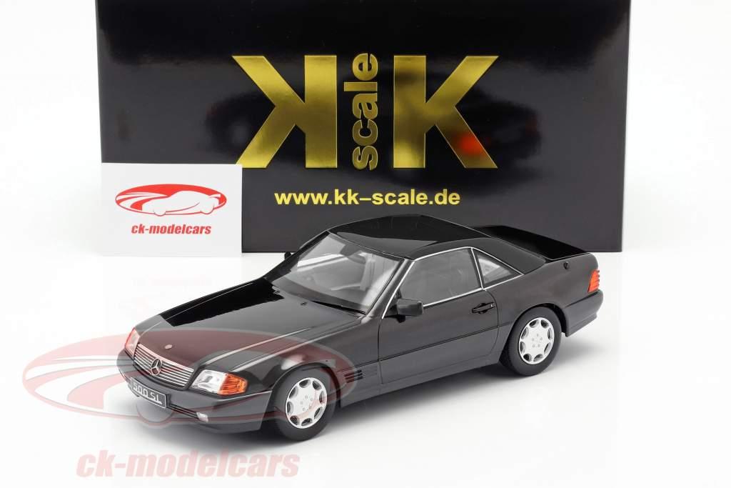 Mercedes-Benz 500 SL (R129) Bouwjaar 1993 zwart metalen 1:18 KK-Scale