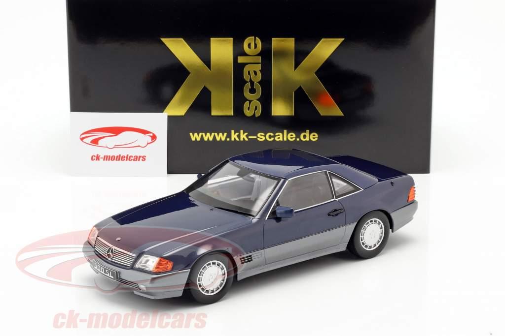 Mercedes-Benz 500 SL (R129) Opførselsår 1993 blå metallisk 1:18 KK-Scale