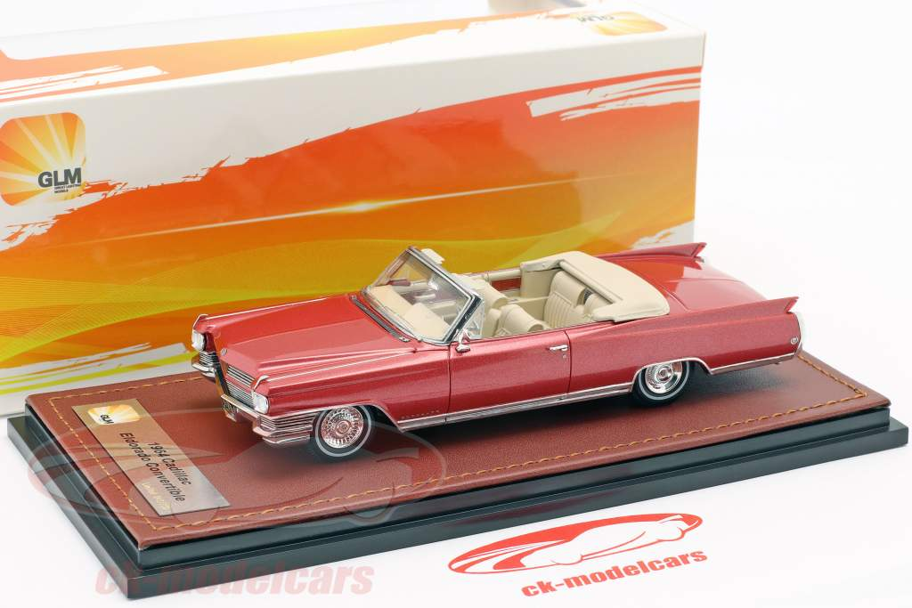 Cadillac Eldorado Convertible Open Top year 1964 red metallic 1:43 GLM
