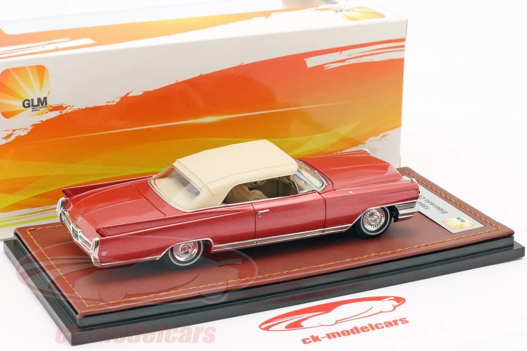 Cadillac Eldorado conversível Closed Top ano de construção 1964 vermelho metálico 1:43 GLM