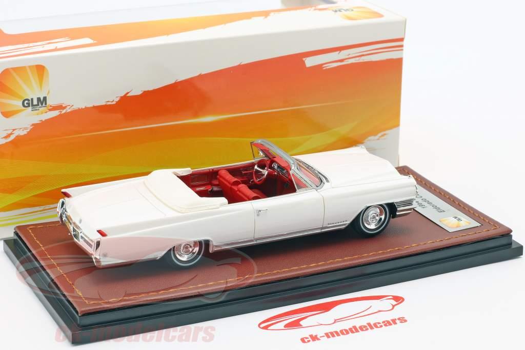 Cadillac Eldorado Convertible Open Top year 1964 aspen white 1:43 GLM