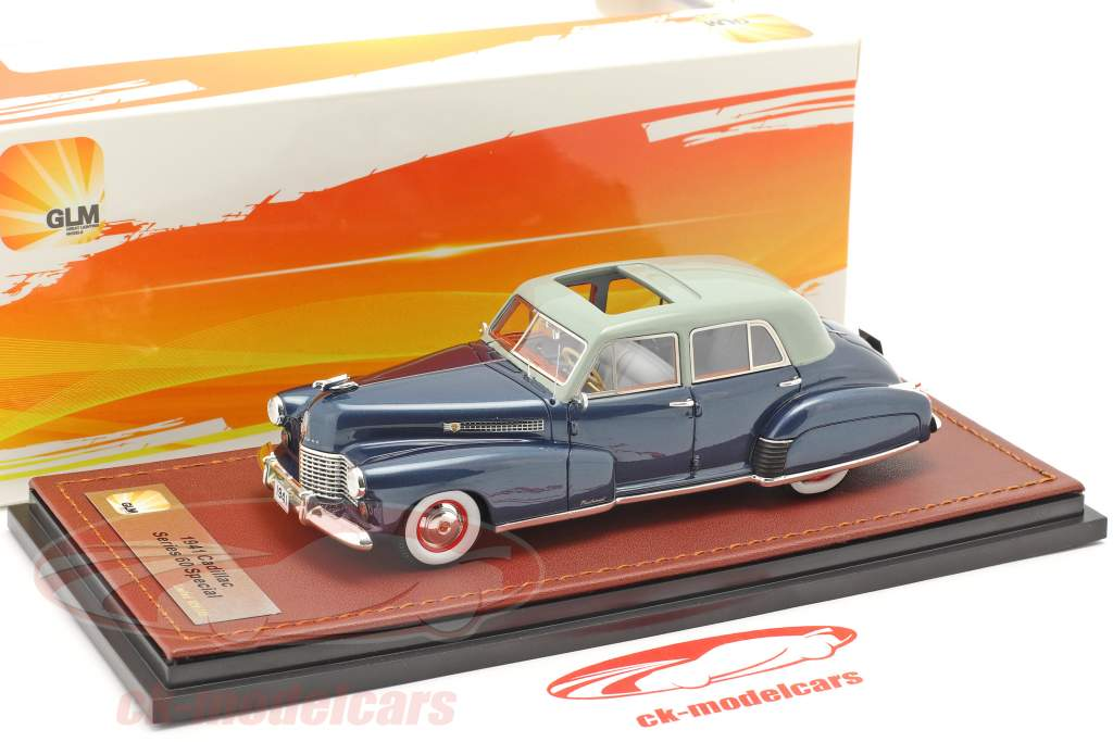 Cadillac Series 60 Special ano de construção 1941 azul escuro 1:43 GLM