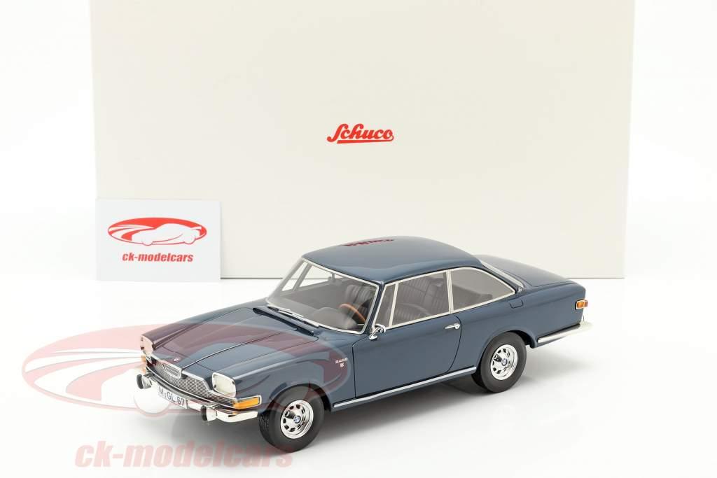 BMW Glas 3000 V8 ano de construção 1967-1968 azul 1:18 Schuco