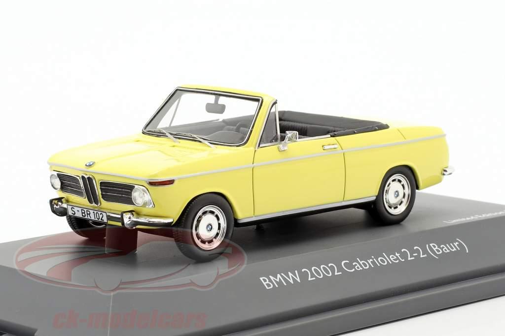 BMW 2002 Cabriolet 2/2 Baur yellow 1:43 Schuco