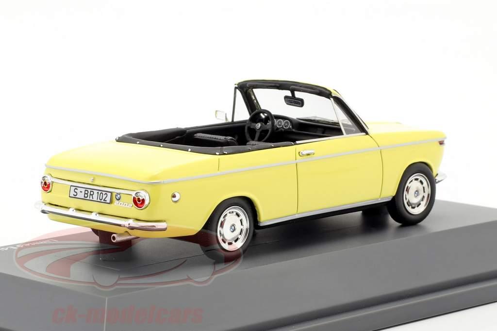BMW 2002 Cabriolet 2/2 Baur jaune 1:43 Schuco