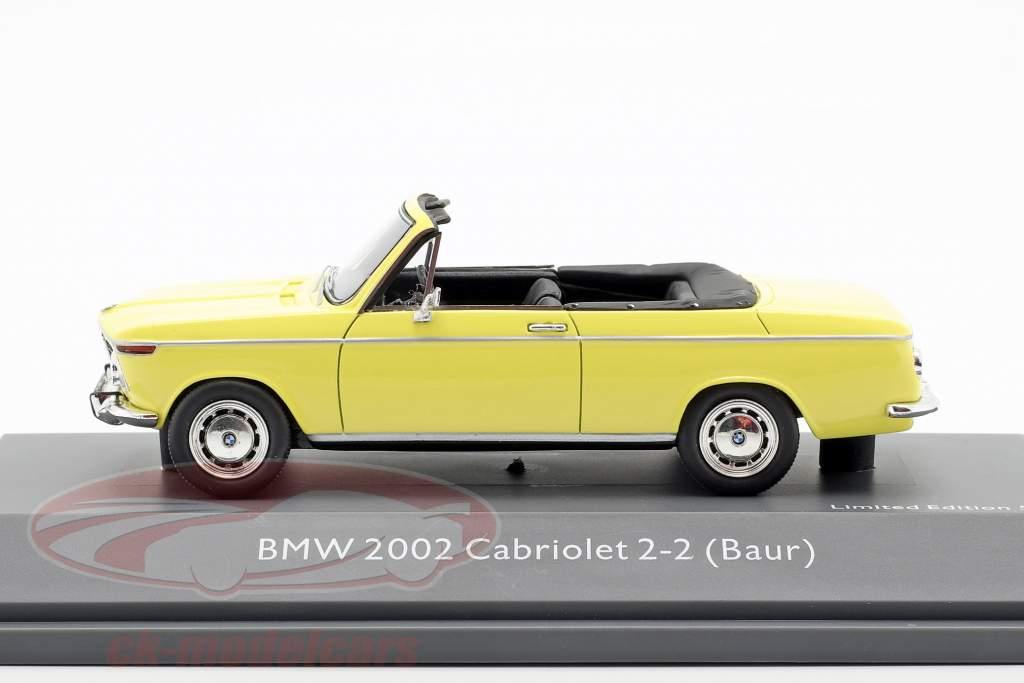 BMW 2002 Cabriolet 2/2 Baur gelb 1:43 Schuco