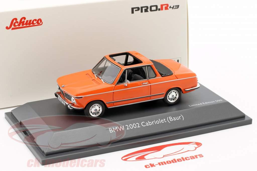 BMW 2002 Cabriolet Baur orange 1:43 Schuco