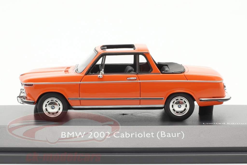 BMW 2002 cabriolet Baur arancione 1:43 Schuco