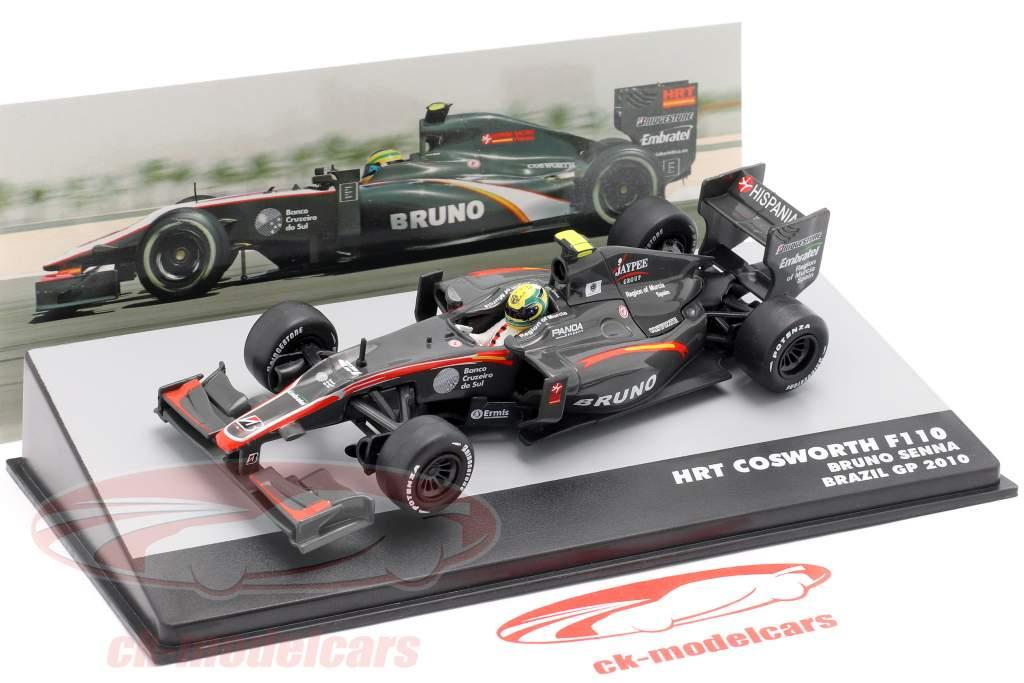 Bruno Senna HRT F110 #21 brasileiro GP fórmula 1 2010 1:43 Altaya