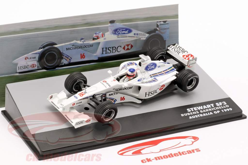 Rubens Barrichello Stewart SF3 #16 5 ° australiano GP formula 1 1999 1:43 Altaya