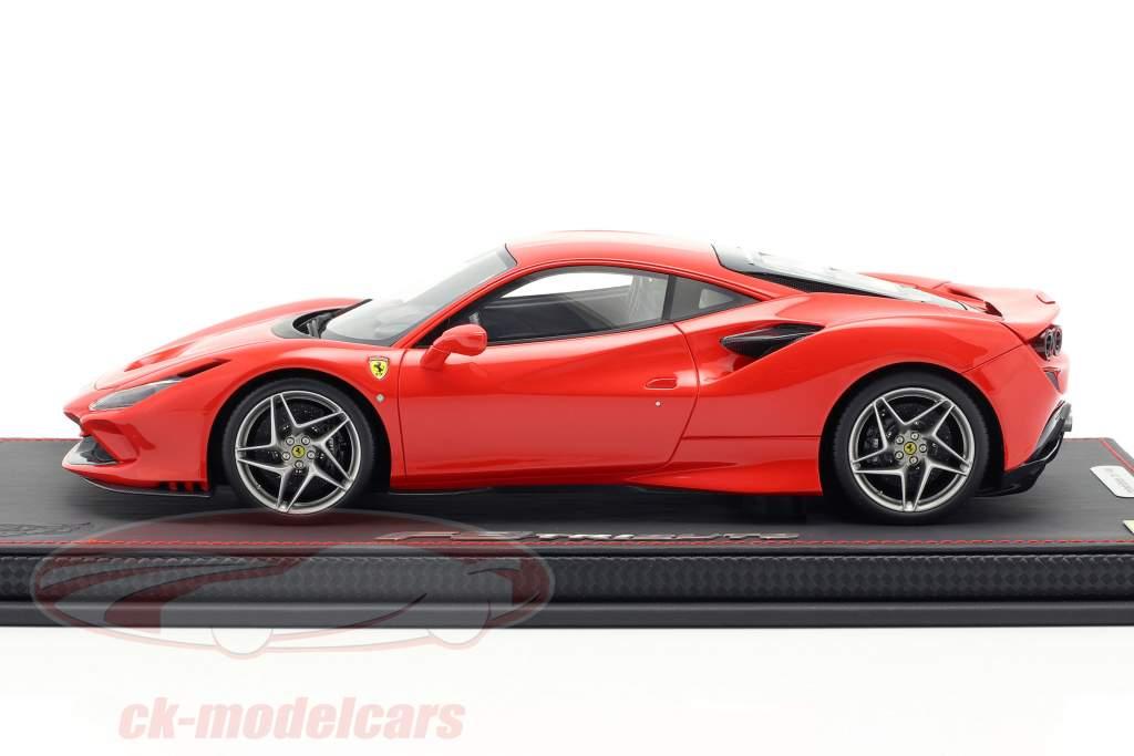 Ferrari F8 Tribute auto spettacolo Ginevra 2019 scuderia rosso 1:18 BBR