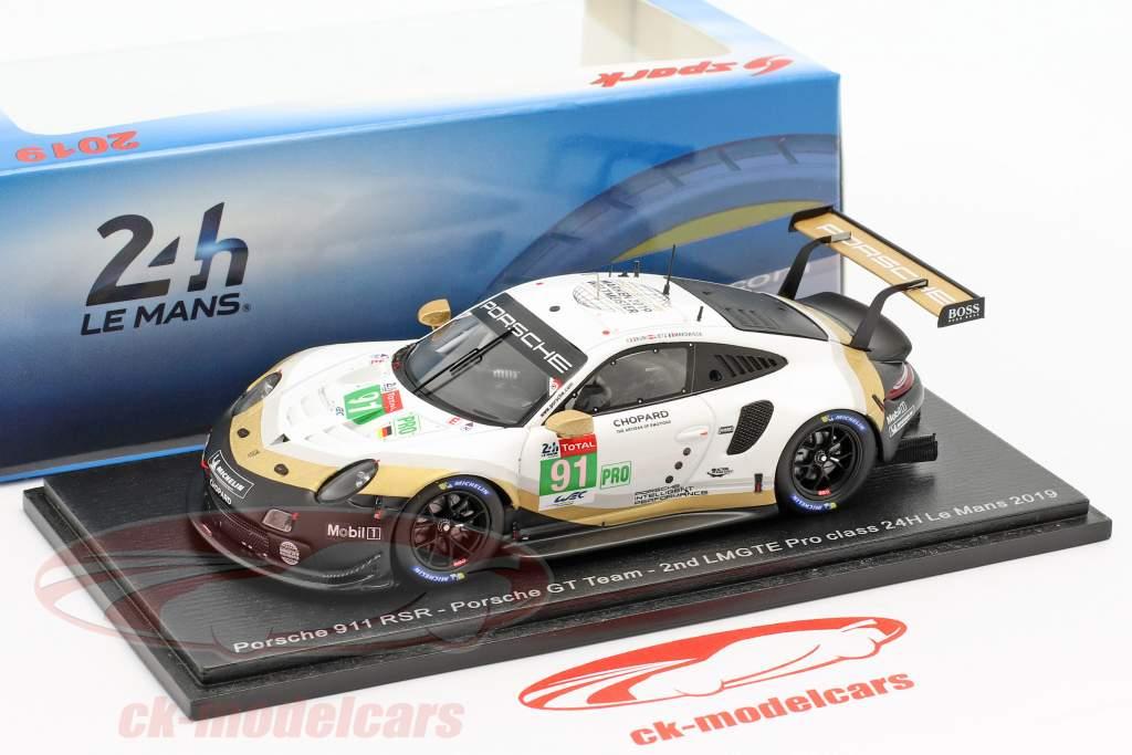 Porsche 911 rsr lmgtepro le mans 2019 Lietz//Makowiecki//bruni s7936 Spark 1:43