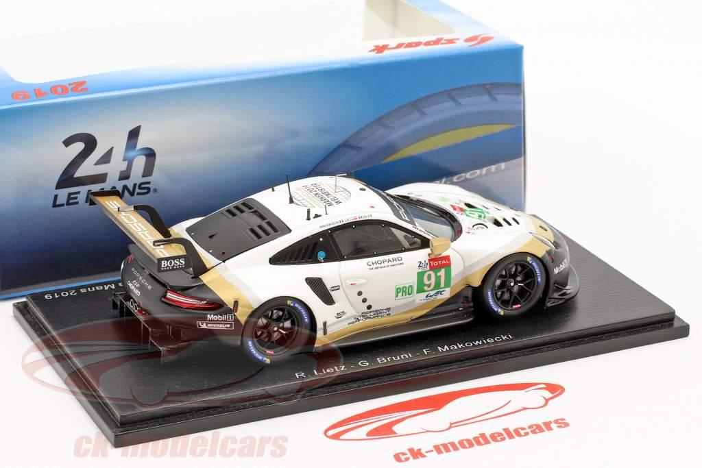 Porsche 911 RSR #91 2º LMGTE Pro 24h LeMans 2019 Porsche GT Team 1:43 Spark