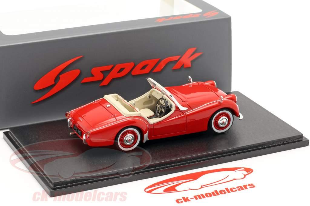 Triumph TR2 anno di costruzione 1954 rosso 1:43 Spark