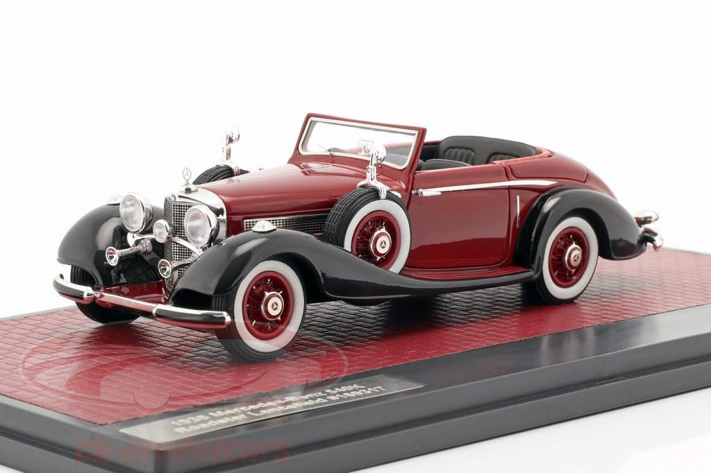 Mercedes-Benz 540K Roadster Lancefield Open Top 1938 rosso 1:43 Matrix
